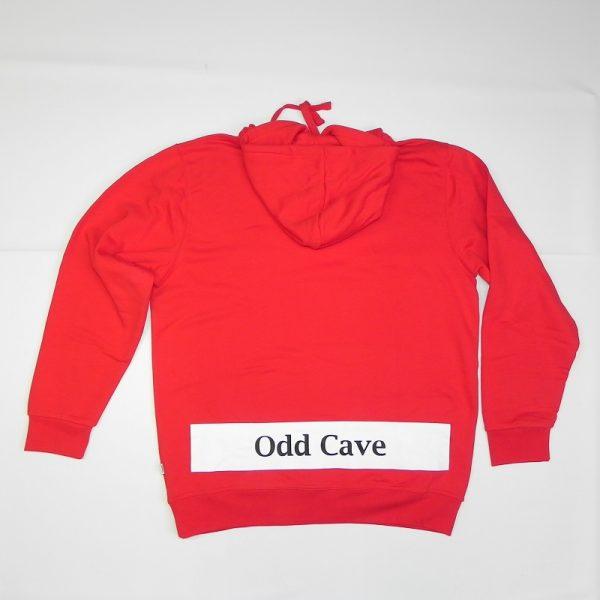 Hoodie Odd Cave banner Rood Rug