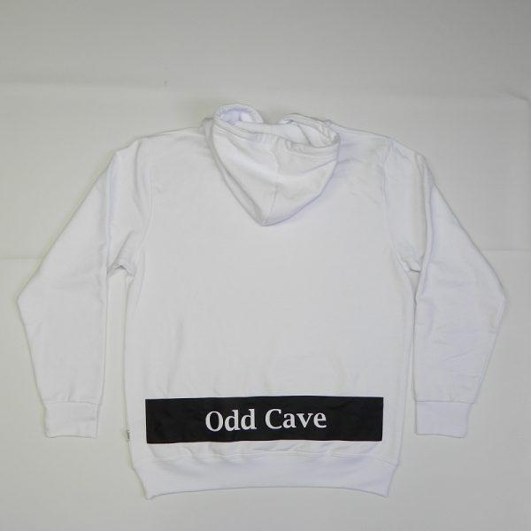 Hoodie Odd Cave banner Wit Rug