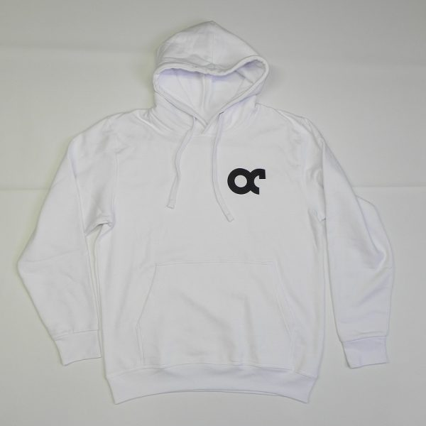 Hoodie Odd Cave banner Wit Front